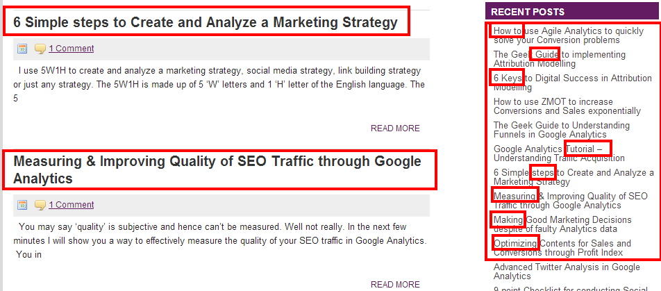SEO Takeaways content marketng